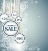 Stock Illustration of Christmas SALE Concept  Background Vector Illustration