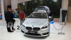 Presentation of the new BMW 225xe hybrid Stock Footage