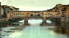 Ponte Vecchio in Florence Stock Footage