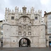 Gateway Santa Maria of Burgos, Castilla y Leon, Spain. - stock photo