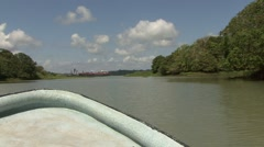 Boatride on the Panama Canal 3 Stock Footage