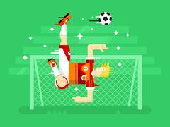 Soccer player - stock illustration
