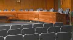 U.S. Senate hearing room  Stock Footage