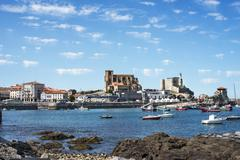View of the Fishing Village of Castro Urdiales, Cantabria, Spain. Stock Photos