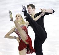 Anna Yanovskaya and Sergey Mozgov from Russia - stock photo