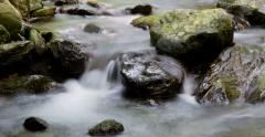 River mountain: Time Lapse 4K with silk effect Stock Footage