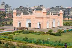 People visit mausoleum of Bibipari in Dhaka, Bangladesh. Stock Photos