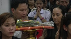 Bangkok Bombing Funeral Services Stock Footage