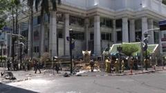 Bangkok Bombing Investigation - stock footage