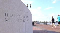 New Orleans Holocaust Museum in downtown 4k Stock Footage