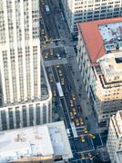 Aerial view of Fifth Avenue in New York City Stock Photos