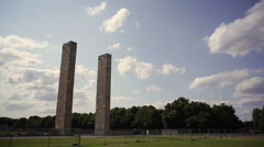 Clock Towers at Olympic Stadium, Berlin, Germany Stock Footage