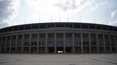Outside the Berlin Olympic Stadium, Germany Stock Footage