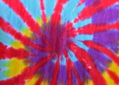 retro tie-dye design - stock photo