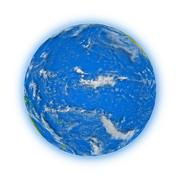 Pacific Ocean on planet Earth - stock illustration