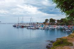 View upon Neos Marmaras, Chalkidiki Stock Photos