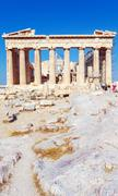 Antique Temple Parthenon, Acropolis, Athens - stock photo
