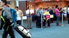 Airport terminal of internation arrival lobby Stock Footage