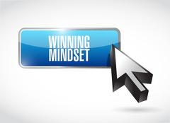 Stock Illustration of winning mindset button sign concept