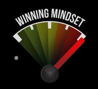 Stock Illustration of winning mindset meter sign concept