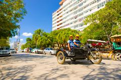 CIEGO DE AVILA, CUBA - SEPTEMBER 5, 2015: Downtown of the Province capital Stock Photos