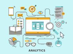 Data analytics concept Stock Illustration