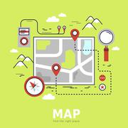 Finding the way concept Stock Illustration