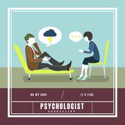 Mental disorder counseling concept Stock Illustration