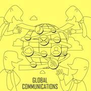 Stock Illustration of global communication concept