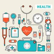 Stock Illustration of medication supplies set