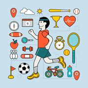Stock Illustration of exercising concept