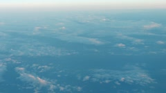 Stock Video Footage of Peaceful view of fluffy clouds from an airborne perspective