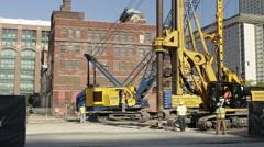 Timelapse shot of Urban construction scene Stock Footage