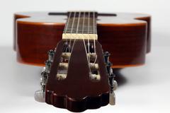 classical acoustic guitar closeup - stock photo