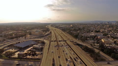 Aerial California Los Angeles Stock Footage