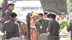 Bangkok River Bombing Stock Footage