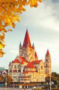 Church Heiliger Franz of Assisi in Vienna - stock photo