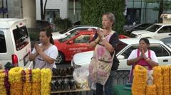 Bangkok Bombing Multi-Faith Religious Ceremony Stock Footage
