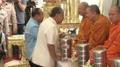 Bangkok Bombing Multi-Faith Religious Ceremony - stock footage