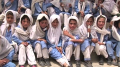 pakistani School Girls - stock footage