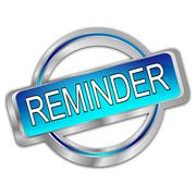 Reminder Button Stock Illustration