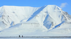 Stock Video Footage of Snow-covered mountains of the Spitsbergen archipelago.