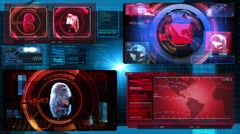 Technology Interface - Computer Data Screen Display Animation Stock Footage