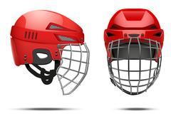 Classic Goalkeeper Hockey Helmet Stock Illustration