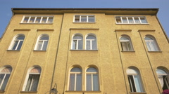 Yellow building in Brasov Stock Footage