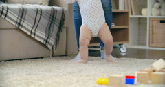 First Unsteady Steps Stock Footage