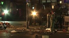 Bangkok Bombing Bomb Squad - stock footage