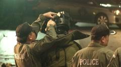 Bomb Squad at Bangkok Bombing  - stock footage