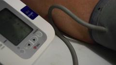 Measurement of pressure auto tonometer Stock Footage
