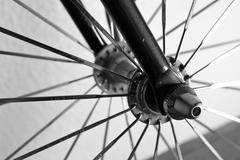 Isolated Bicycle Wheel - stock photo
